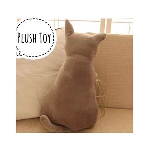 "Other - Brand New Plush Gray Cat Toy 11"" Cute Pillow decor"